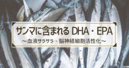 さんまに多い成分といえば、例の早口言葉のような…~ DHAとEPA ~