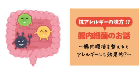 アレルギー症状への対応策として必ず出てきます~がんばれ腸内細菌~
