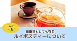 アフリカの恵み!効果の高い健康茶として有名です~ルイボス・ティー~