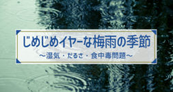 そろそろ梅雨時!梅雨の健康問題点は湿気・だるさ・食中毒です!
