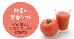 「蕃茄」って、なんだかご存知ですか?~代表的な野菜~