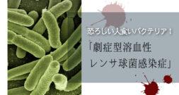 とりあえず、名前も症状も凶悪です(苦)~人食いバクテリア~