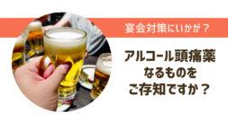 年末年始の宴会対策、ウコン以外の選択肢になるか?!~アルコール頭痛のお薬~