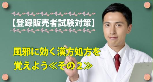 【登録販売者試験対策】風邪に効く漢方処方を覚えよう≪その2≫